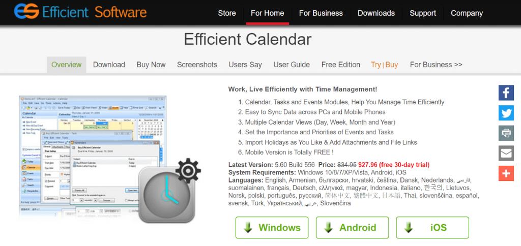 Efficient Calendar Software For Windows