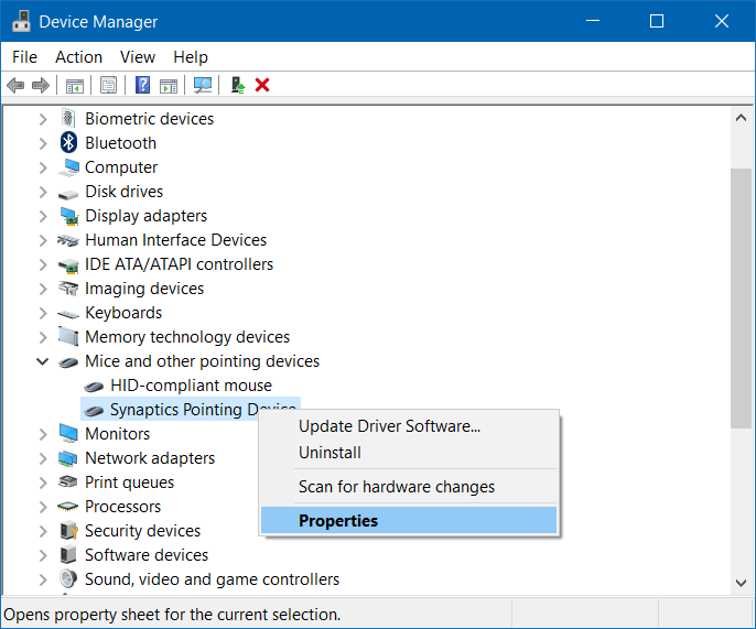 Fix Asus Touchpad Not Working Problem through Device Manager