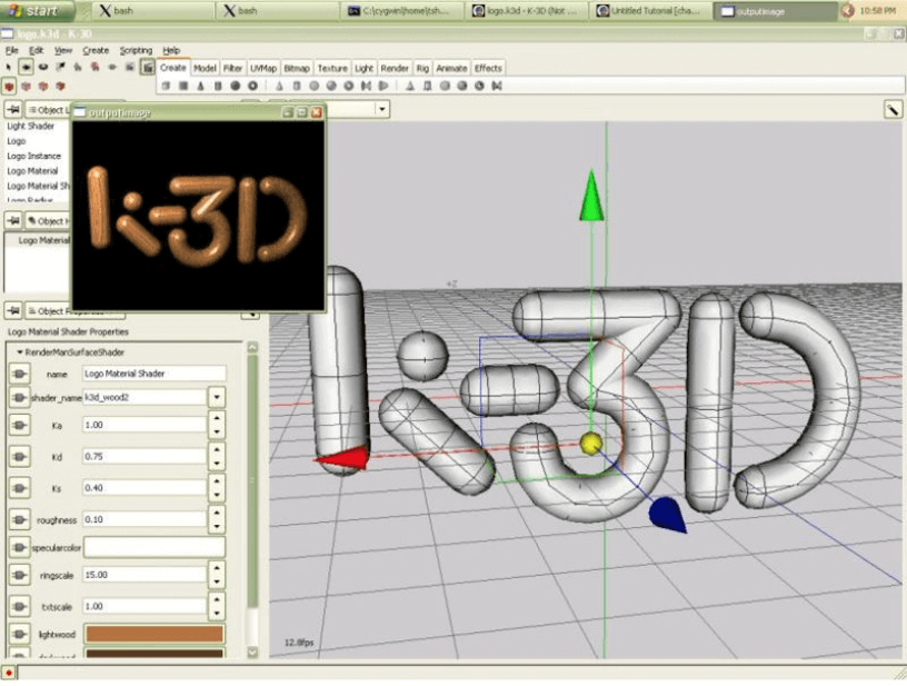 K-3D Animation Software