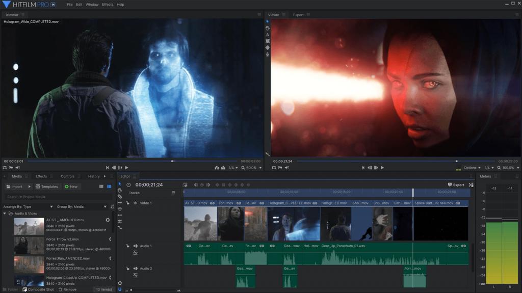 Phần mềm chỉnh sửa video HitFilm Express cho người dùng Mac vào năm 2020