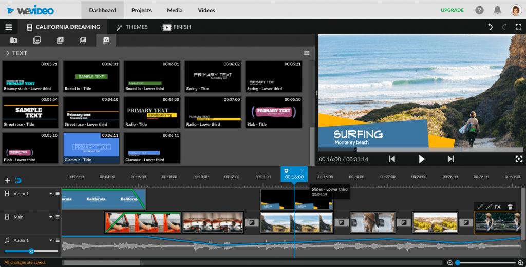 WeVideo - Phần mềm chỉnh sửa video cho Mac