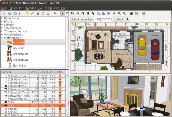Sweet Home 3D - Best Free Architecture Software