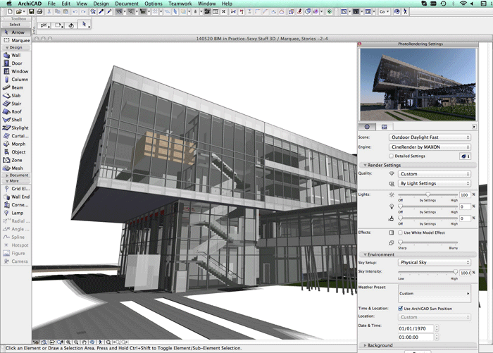 ArchiCAD Modelling - Free Architectural Drawing Software