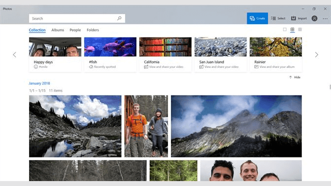 Microsoft Windows 10 Photos - Light Room Alternative