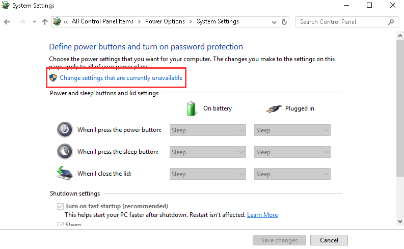 Head To Change Settings That Are Currently Unavailable