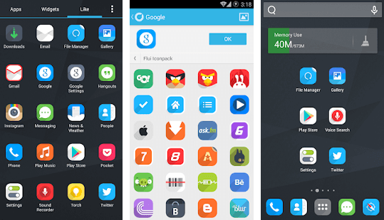 Flui Icon Pack - Top iPhone launchers for Android