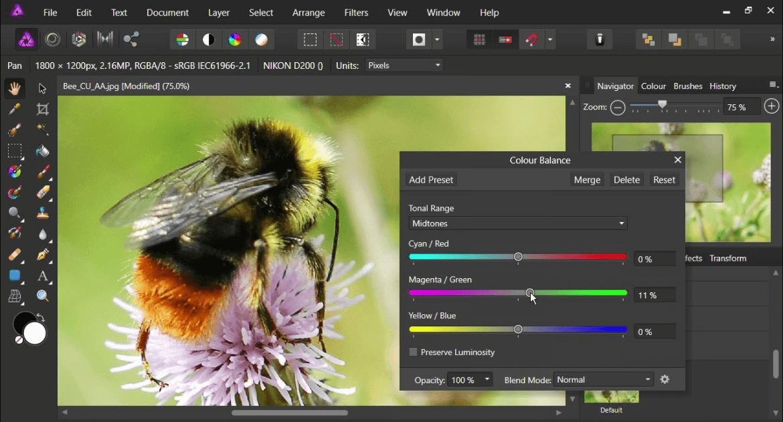 Affinity Photo - Best Free Photo Stitching Software