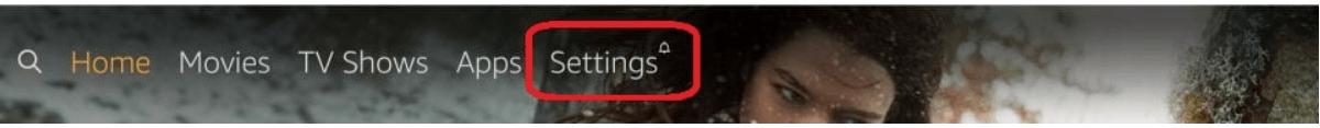 Select Settings option from Menu
