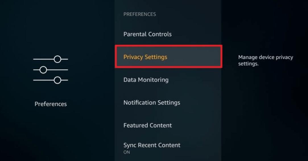 choose Privacy Settings tab