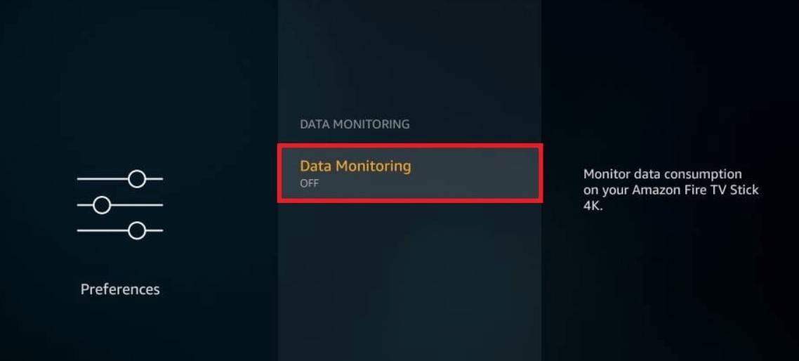turn off Data monitoring