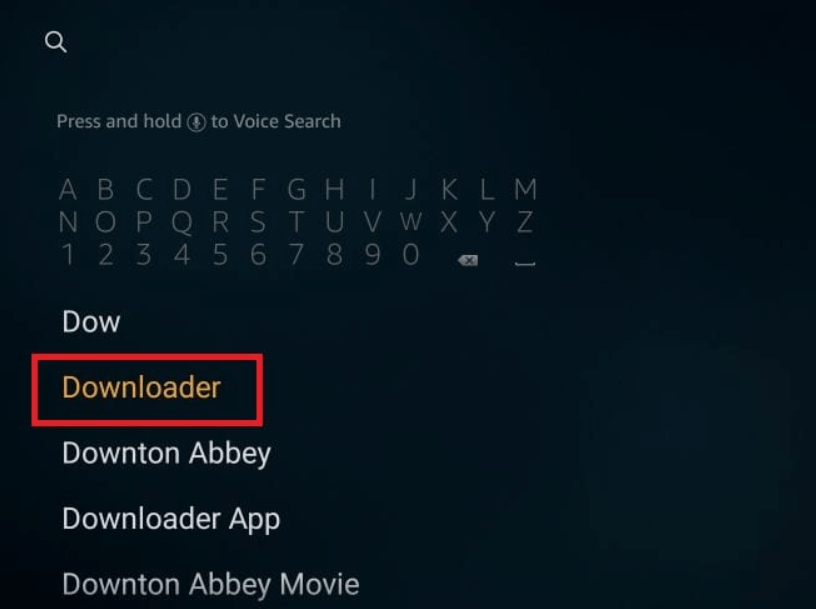 choose Downloader From drop down