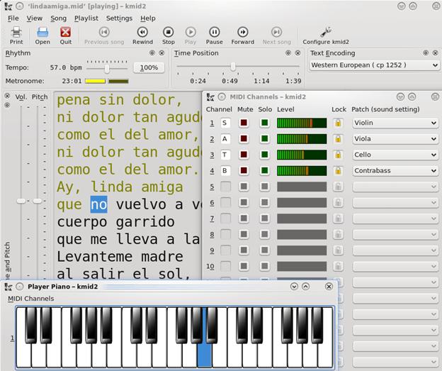 KMid - Karaoke Software