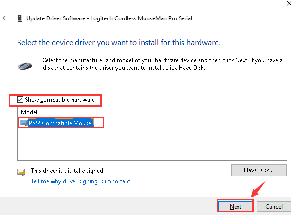 Reinstall the wireless mouse driver - 2