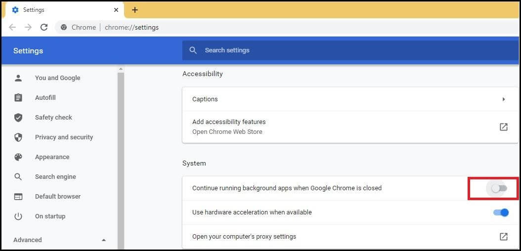 Disable Software Reporter Tool Using Chrome Settings - 1