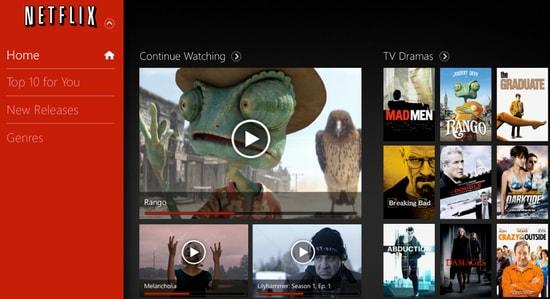Netflix App for Windows 10