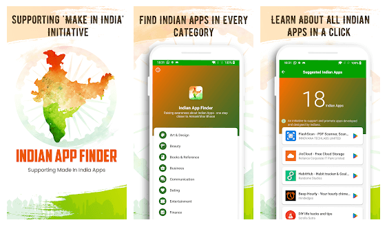 Indian App Finder – Popular Categories of Made in India Apps