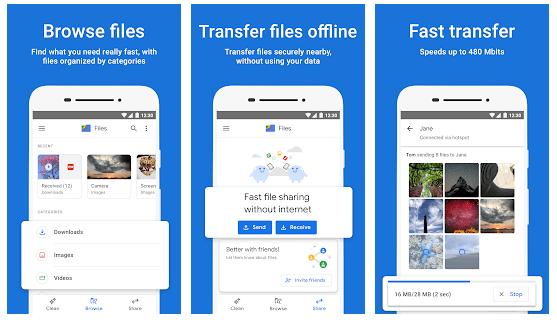Files by Google - Clean up space on your phone