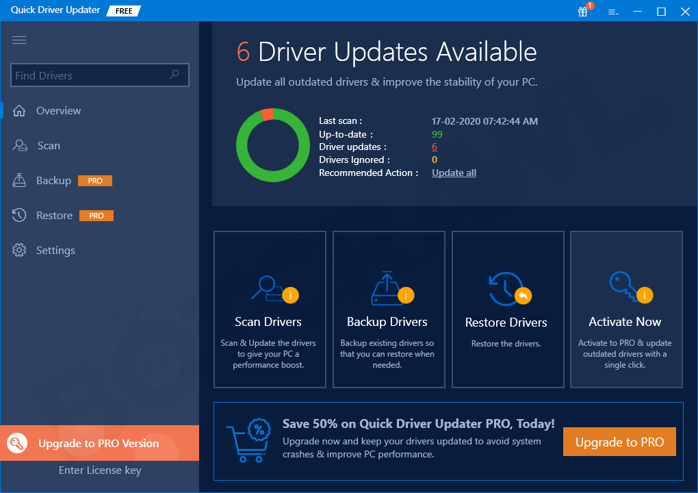 Quick Driver Updater software