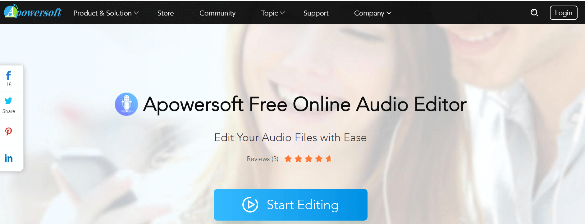 Apowersoft Free Online Audio Editor