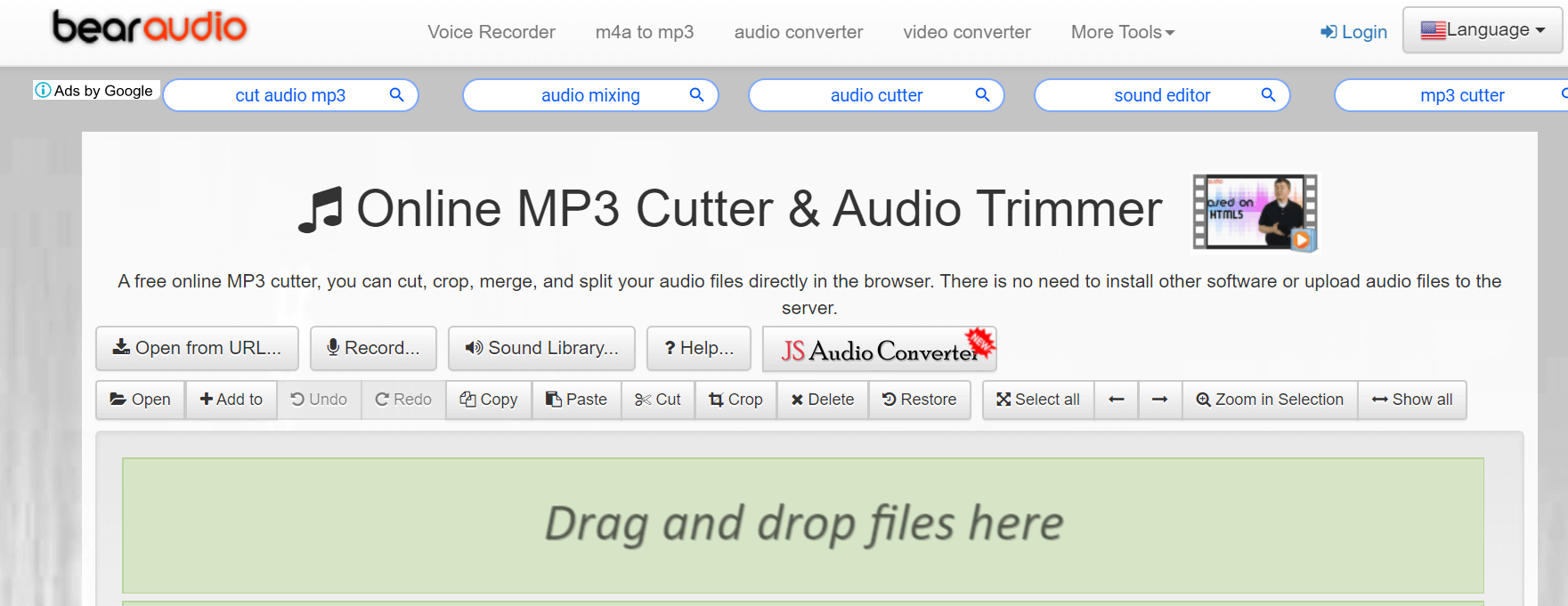Bear Audio Online MP3 Cutter and Audio Trimmer