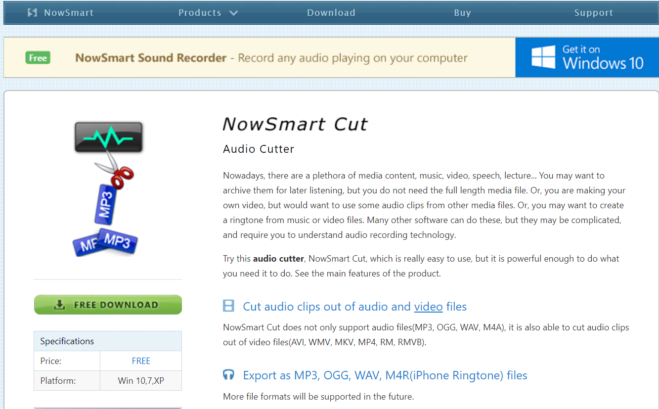 NowSmart Cut audio cutter