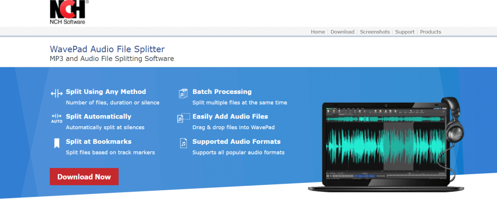 WavePad Audio File Splitter