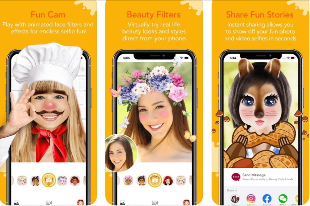 YouCam Fun funny face app