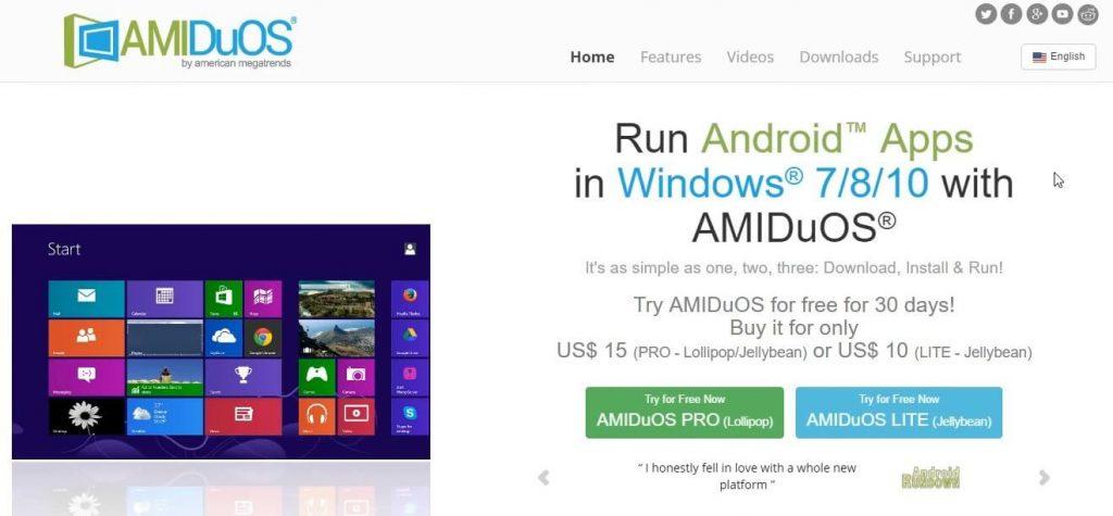AMIDuOS Emulator image