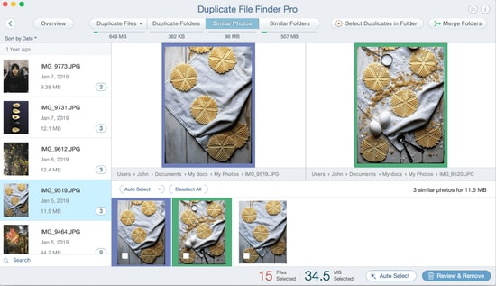Duplicate photos cleaner tool for Mac