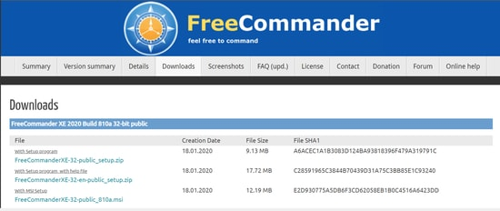 Free Commander file manager