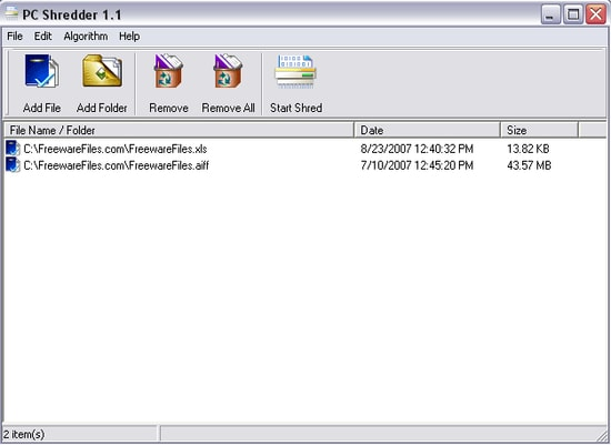 PC Shredder - Easy to use file shredder software