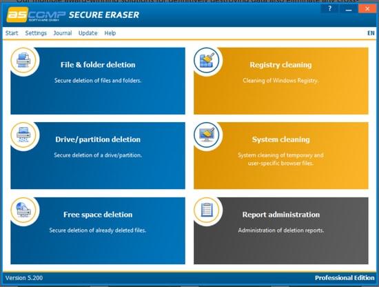 Secure Eraser - reliable Windows file shredder