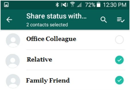 show your WhatsApp status updates on Android