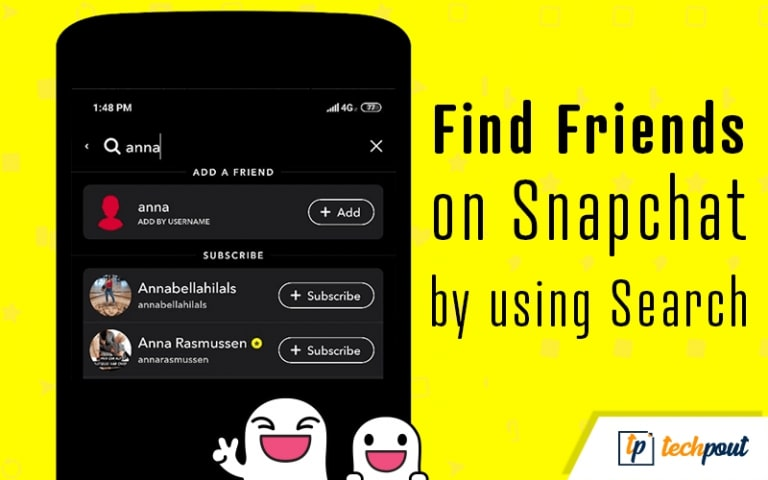 Find Friends On Snapchat Using Search