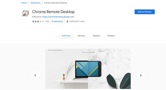 Chrome Remote Desktop extension