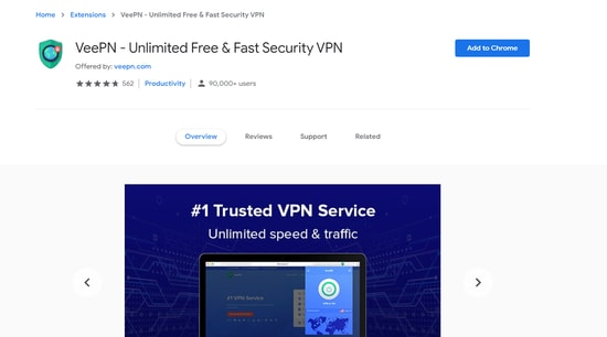 VeePN powerful security extension for your chrome browser