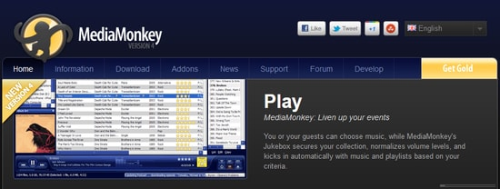 MediaMonkey Free Media Music Manager