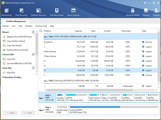 MiniTool Partition Wizard (Multi-functional Disk Partitioning Program)