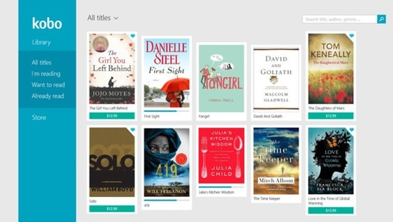 Kobo Epub reader for Windows