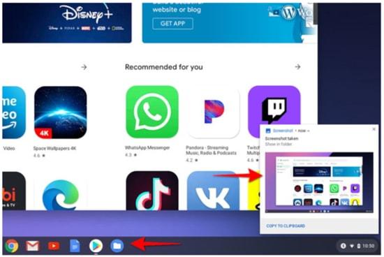 method to take a full screenshot on Chromebook