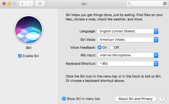 Check Siri Enable On Mac