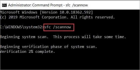 Command Prompt Open and Then Enter SFC-Scannow Command and Again Hit Enter