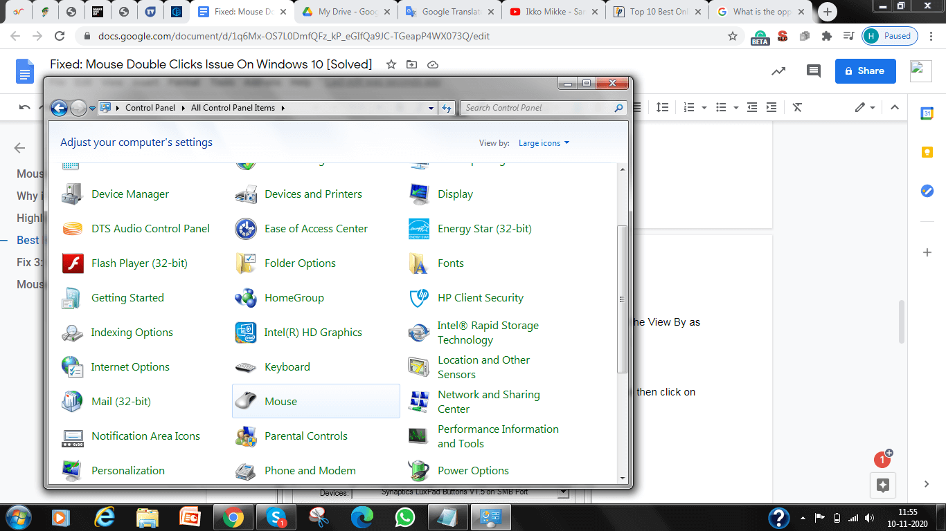 Open Up Control Panel Window, Now, You Need To Set View By as Large Icons