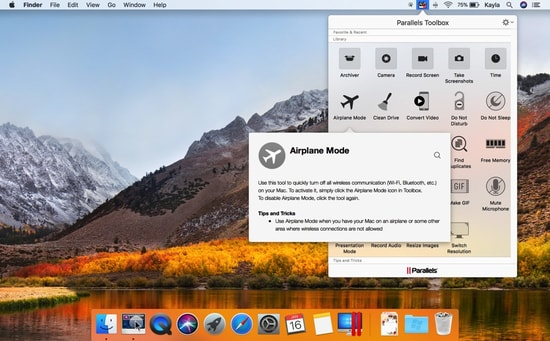 Parallels toolbox