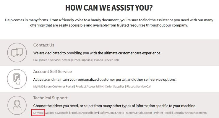 find How can we assist you in support & downloads options