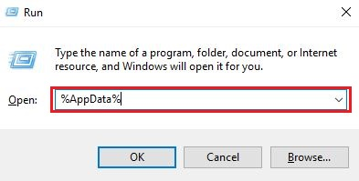 Type AppData in Run Utility