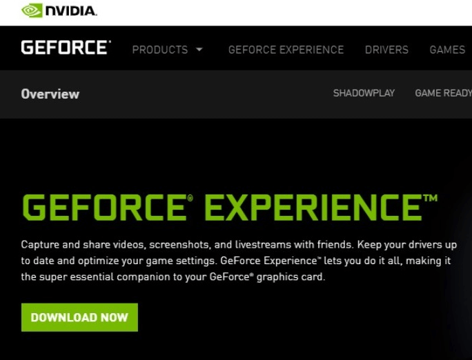 Download GeForce Experience From Official Website