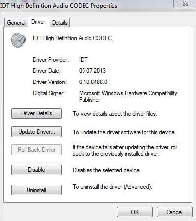 Head To Driver Tab Then Click On Roll Back Driver Option