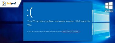 [Solved] Inaccessible Boot Device Error On Windows 10