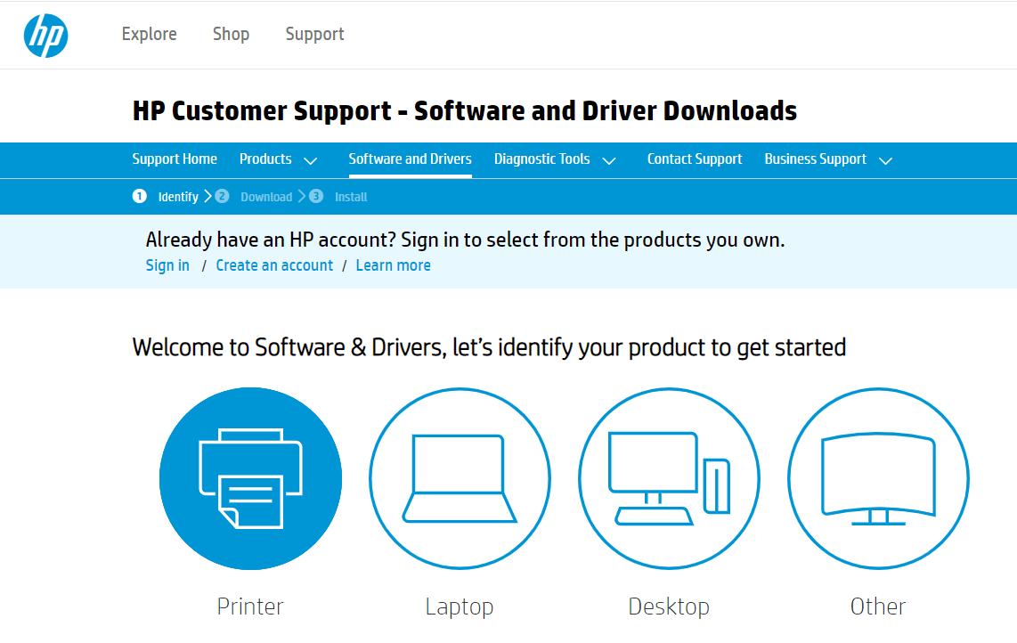 Head To Software and Drivers Tab and Then Select Printers